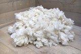 500 gram zachte vulling - gewassen vlokkenwol (wolwit)_