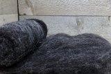 100 gram gewassen kaardvlies - Blauwe Texelaar (donkergrijs)_