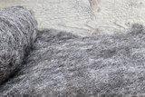 100 gram gewassen kaardvlies - Blauwe Texelaar (lichtgrijs)_