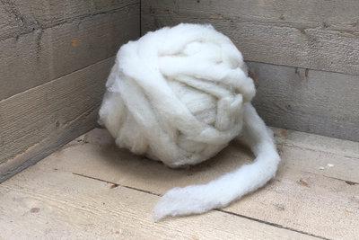 500 gram gewassen lontwol - Swifter (ivoorwit)
