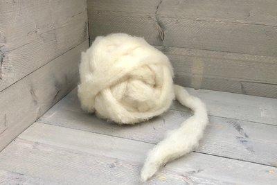 500 gram gewassen lontwol - Veenkolonist (ivoorwit)