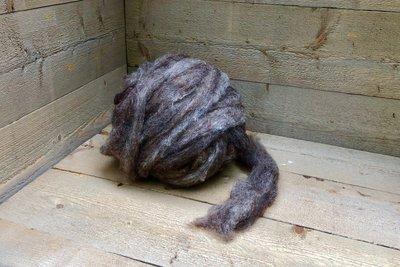 500 gram gewassen lontwol - Dassenkop (mioget)
