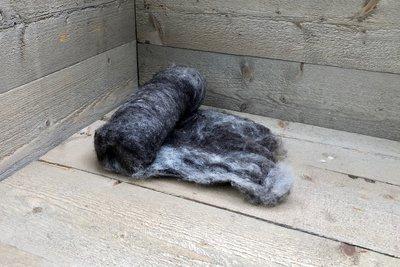 100 gram gewassen kaardvlies - basiswol / vulwol (gemengd)