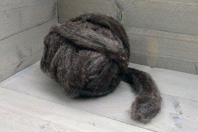 500 gram gewassen lontwol - Blauwe Texelaar (middengrijs)