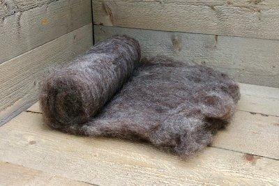 250 gram gewassen kaardvlies - Karakul (koper)