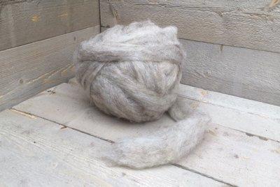 500 gram gewassen lontwol - Drents Heideschaap (gemêleerd)