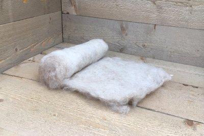 100 gram gewassen kaardvlies - Drents Heideschaap (rossig)