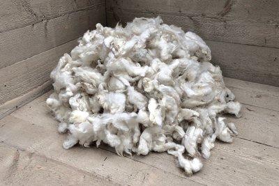 1 kilo basiswol / vulwol - gewassen (wolwit)
