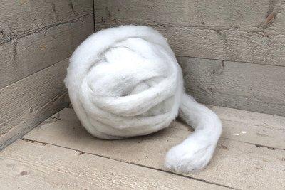 500 gram gewassen lontwol - Texelaar (ivoorwit)