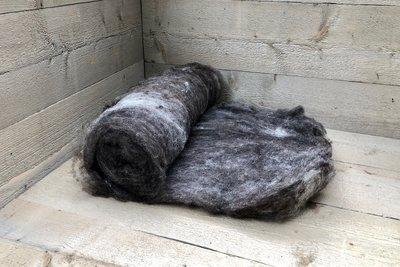 500 gram gewassen kaardvlies - basiswol / vulwol (gemengd)